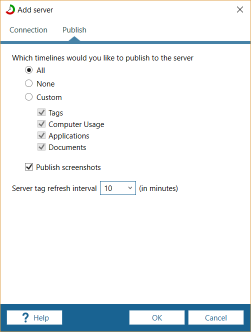 connecting to manictime server manictime support